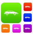 car set collection vector image