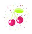 cartoon red cherry icon bordo vector image