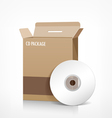 cd box package vector image vector image