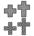 celtic cross - set traditional designs in black vector image