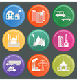 City infrastructure icons 10 vector image vector image