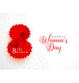 creative happy womens day background design vector image
