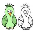 cute cartoon bird for colouring vector image vector image