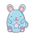 cute male mouse animal with star vector image vector image