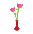 cute rose on a pot vector image vector image