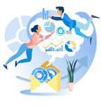 data analysis metaphor cartoon flat business page vector image