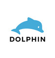 dolphin flat logo icon vector image vector image