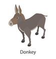 donkey icon isometric style vector image vector image