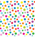dotted colorful seamless background vector image vector image