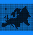 dotted pixel europe map vector image