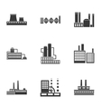 Factory set icons in black style Big collection vector image