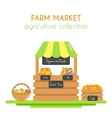 Farm market stall with fruits vector image