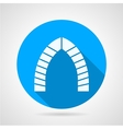 Flat round icon for brick lancet arch vector image