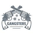 gangsters logo vintage style vector image