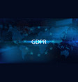 gdpr concept vector image