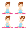 Girl doing yoga exercise vector image