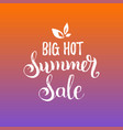 handwritten big hot summer sale vector image