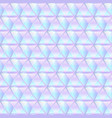 holographic triangle texture vector image vector image