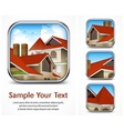 Icon set with red tile roof vector image vector image