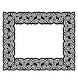 irish celtic frame design irish pattern vector image vector image