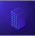 isometric data center 3d vector image vector image