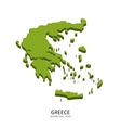 Isometric map of Greece detailed vector image vector image