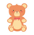 kids toys teddy bear with bow decoration isolated vector image vector image