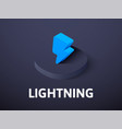 lightning isometric icon isolated on color vector image