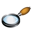 Magnifying glass with wooden handle vector image vector image