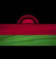 malawi flag flag of malawi blowig in the wind vector image