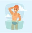 man on beach outdoors summer lifestyle sunlight vector image