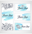 mockup of business cards and flyer vector image vector image