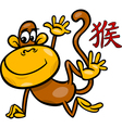 monkey chinese zodiac horoscope sign vector image vector image