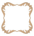 ornament in baroque style for filigree vector image vector image