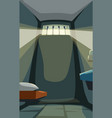 prison cell with sun light vector image vector image