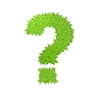 Question sign consisting of green leaves vector image vector image