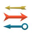 retro arrow cursors set in flat style vector image vector image