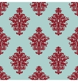 Retro maroon or crimson seamless pattern vector image