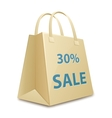 Sale shopping bag vector image vector image