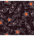 Seamless pattern with flowers doodles and rubies vector image vector image