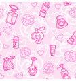 Seamless pattern with perfume bottles vector image vector image