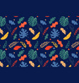 seamless tropical leaves pattern jungle colorful vector image vector image