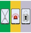 Set mobile security vector image