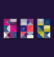 set of abstract design background vector image