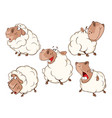 set of cartoon different sheep vector image vector image