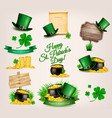 set of st patricks day related icons vector image