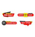 set sale tags sale discount and special offer vector image vector image