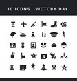 simple icons victory day vector image