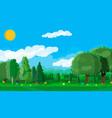 summer landscape concept vector image