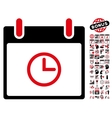 Time Calendar Day Flat Icon With Bonus vector image vector image